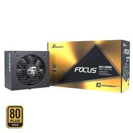 Fuente de poder para PC ATX Seasonic Focus GX 650W 80 Plus Gold, modular, 10 años de garantía del fabricante, nueva!