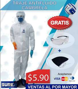 traje antifluido cambrella / traje + mascarilla + gafa.