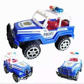 Carro Policia Fricción Juguete Impulso Juguetería