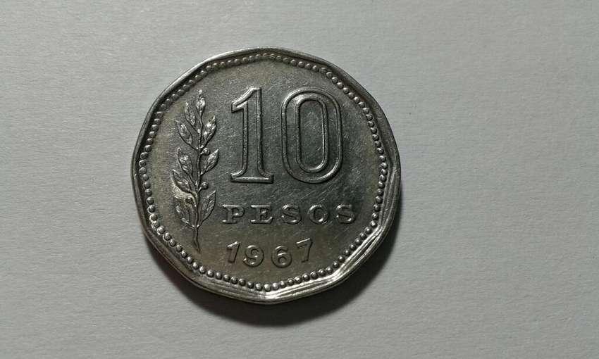 Moneda Arg Diez Pesos El Resero Año 1967