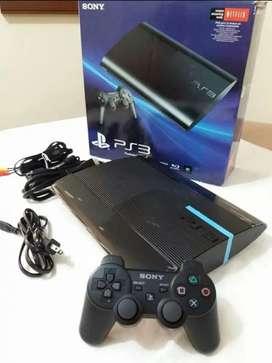 Ps3 500  gb  2 controles +40 juegos nuevo