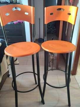 Hermosas sillas para barra de bar o cocina