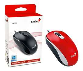 Mouse Genius Dx-110 Color Rojo