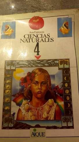 Ciencias naturales 4 - Ana Espinoza - Editorial Aique