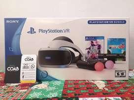 Gafas PS VR PlayStation Bundle PS4 Incluye 2 Juegos Nuevo Sellado