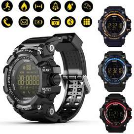 SmartWatch EX16 Sumergible Acero Apps Redes