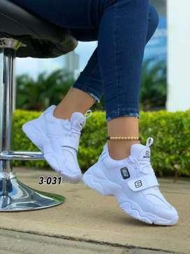 Zapato Tennis Deportivo Skecher Para Mujer