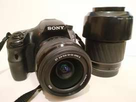 Cámara réflex Sony Alpha 58 con lente 18-55 y 70-200