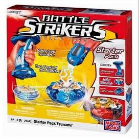 Mega Bloks Battle Strikers Turbo Tops Starter Pack  Tsunami