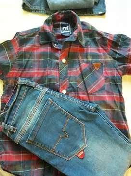 Vendo jeans y camisa niño