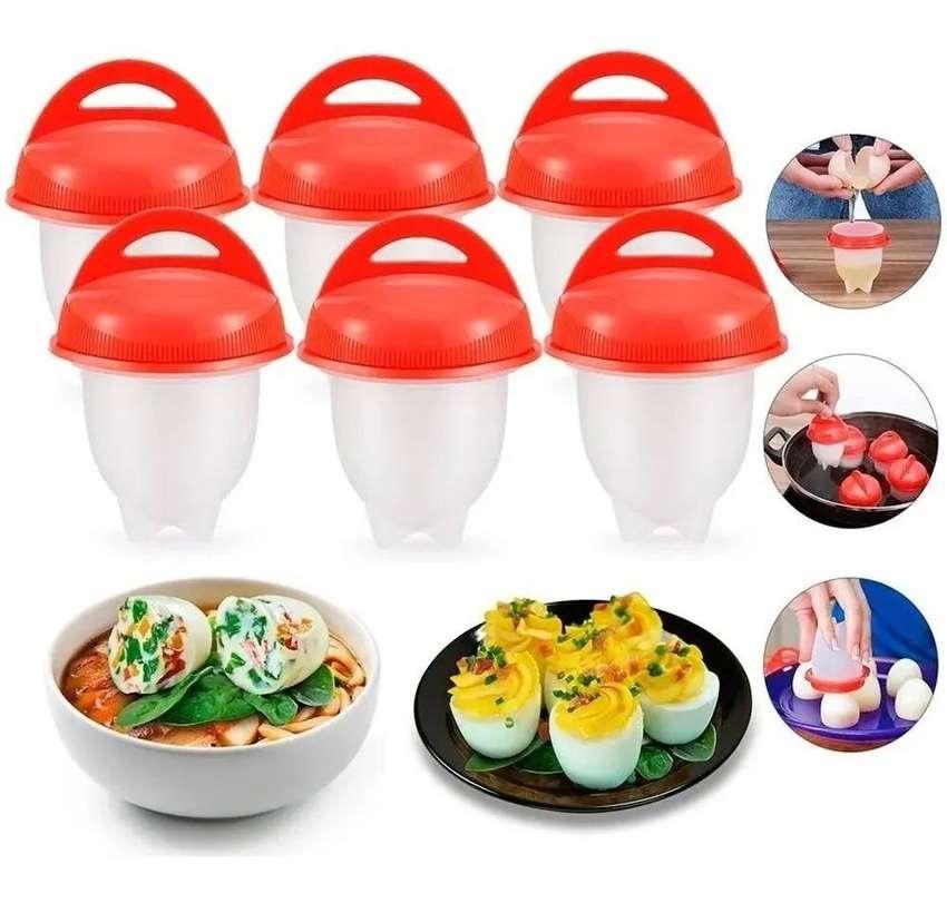 Combo x2 Silicona Para Huevo Egg Boil Cocina Huevos Sin Cascara+obsequio 0