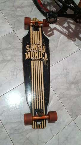 Longboard tabla californiana Santa Mónica con Trucks y ruedas Speed Demons 65mm
