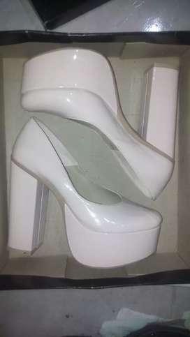 Zapatos de Dama fiesta color rosa charol n• 37