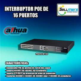 Interrruptor Poe De 16 Puertos Pfs4220-16p-250