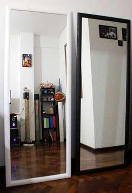 Espejo con Marcos de Madera 1.60x60