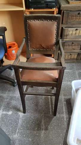 silla de bebe para comer antigua
