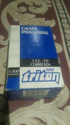 Grapa Industrial Cobrizada Triton 13210
