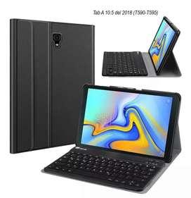 Case Funda con Teclado Bluetooth @ Galaxy Tab A 10.5 I T590 Negro *