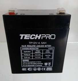 Batería De 12v 4.5 A Para Alarmas, Control De Accesos, Cctv