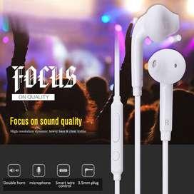 Auriculares 1,2m 3.5mm control de volumen y micrófono. Estéreo de audio para auriculares.