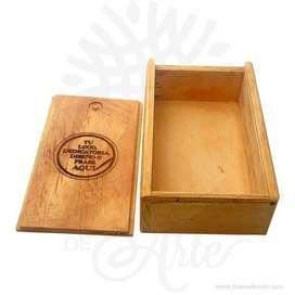Caja Estuche en Madera 10 x 16 cm para personalizar - Precio COP