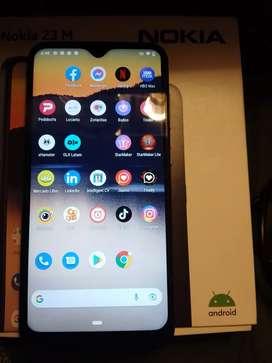 Vendo un celular Nokia con cargador funda y vidrio templado libre con caja