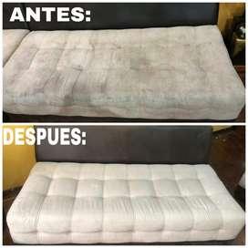 Limpieza y desinfeccion de muebles de sala comedor colchones alfombras e interiores de vehiculos