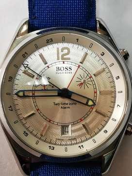Reloj Hugo Boss  two-time y alarma swiss made