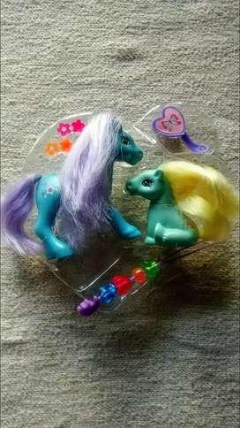 Ponys por 2 más accesorios estuche corazón