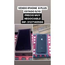 VENDO IPHONE 8 PLUS EXCELENTE ESTADO PRECIO NEGOCIABLE