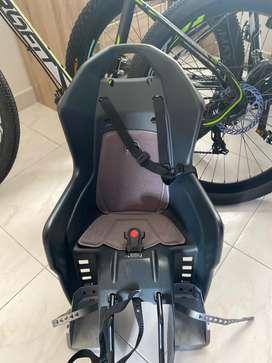 Silla portabebès para bicicleta, marca: Polisport
