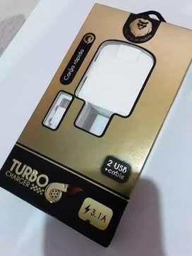 Cargador carga rapida turbo