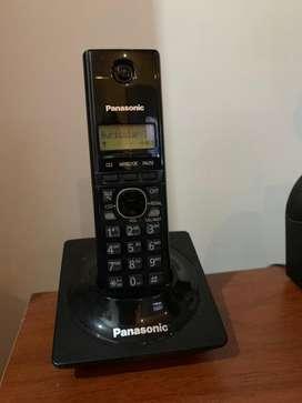 Telefono negro inalámbrico Panasonic