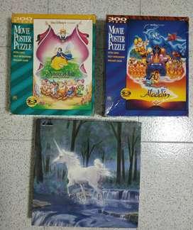 Rompecabezas de Disney Aladdín, Blanca nieves y y Midnight Runaway