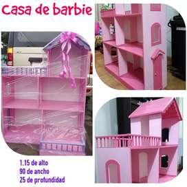 Venta de casas para muñecas barbie y para niños con el motivo q quiera
