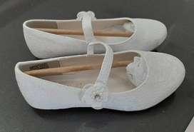 Balerinas blancas comunión/fiesta