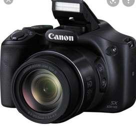 Camara Canon semiprofesional.