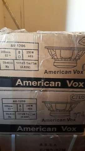 """parlantes american vox 12 """"nuevos c/u"""