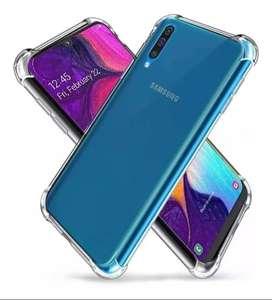 Funda bordes reforzados transparente Samsung A70