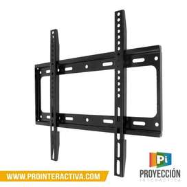 Soporte base para tv fija en acero no inclinable