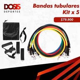 Kit bandas elásticas tubulares x 5