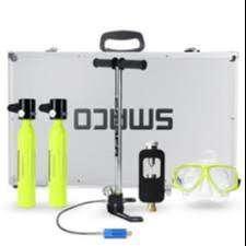 Smaco x2 botellas +bomba de relleno 100 respiraciones x botella incluye manometro