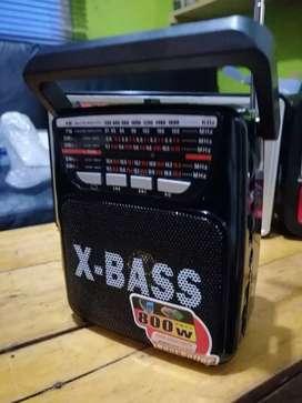 Radio multibandas a.m f.m SW con USB y SD interna de alta calidad y batería recargable