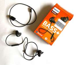 Audífono Philips In-ear negro bass