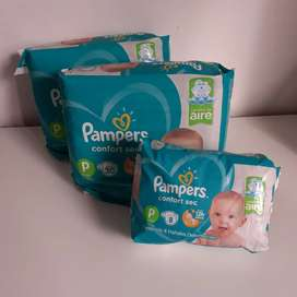 Combo Pañales Pampers Confort sec P