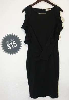 Vestido negro (talla L)