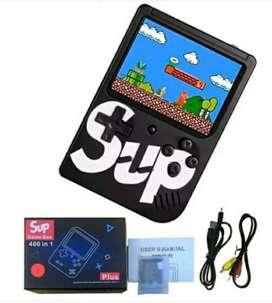 Mini nintendo consola videojuego video juego retro de bolsillo sup con 400 juegos portátil recargable con mario bros