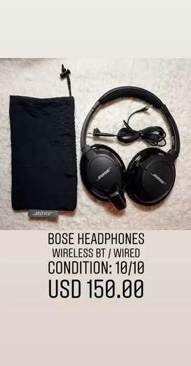BOSE audífonos y parlante
