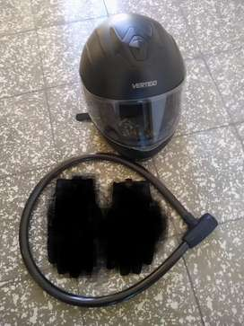 Vendo casco vértigo y linga poco uso