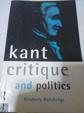 Kant, Critique and politics. Kimberley Hutchings